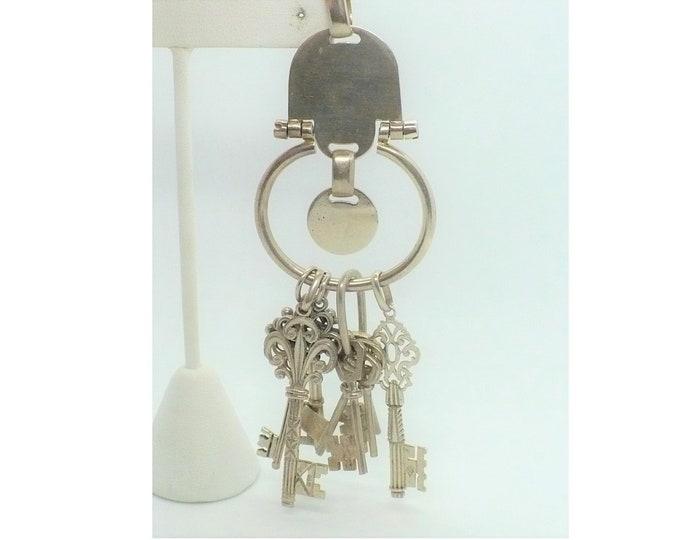 Vintage Silver Chatelaine Key Pendant