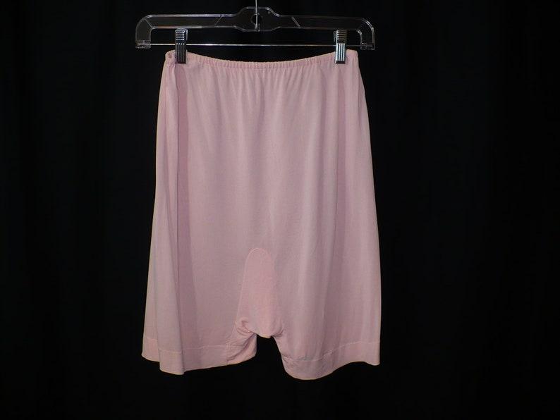 MTall Treat Rayon Panties Hammock Crotch 1960s Pink Lingerie Medium