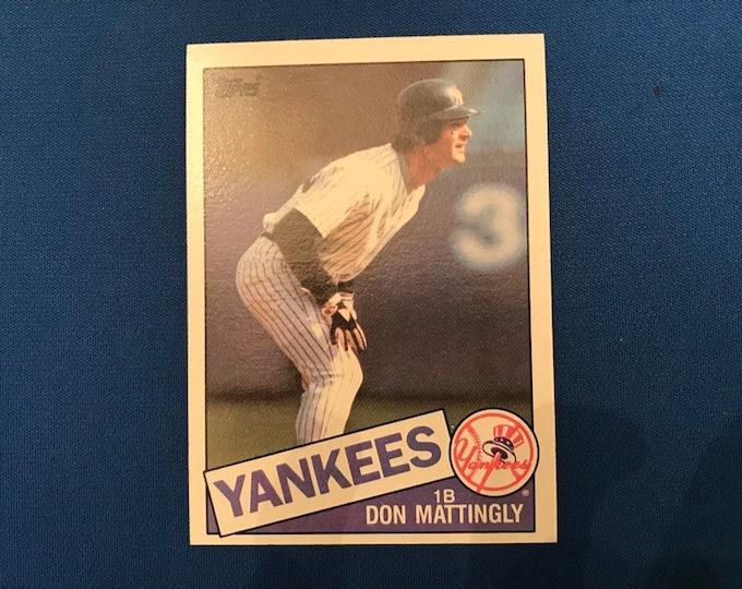 1985 Topps #665 Don Mattingly Yankees Vintage Baseball Card