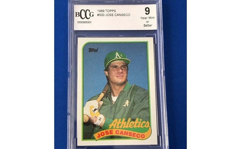 Bccg 9 Topps 1989 Jose Canseco 500 Baseball Card Trading Card Vintage Sports Memorabilia Collectibles