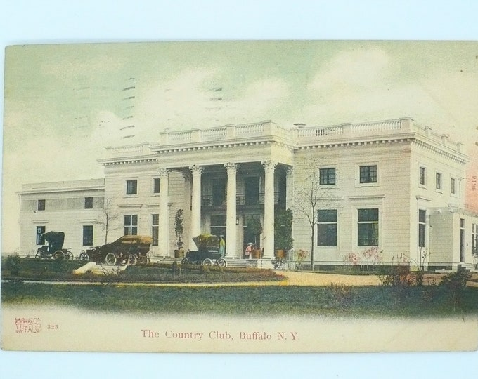 1907 The Country Club Buffalo New York Vintage Postcard Posted