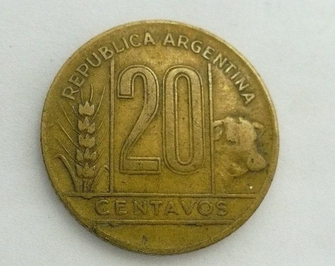 Argentina 1945 20 Centavos Error Coin