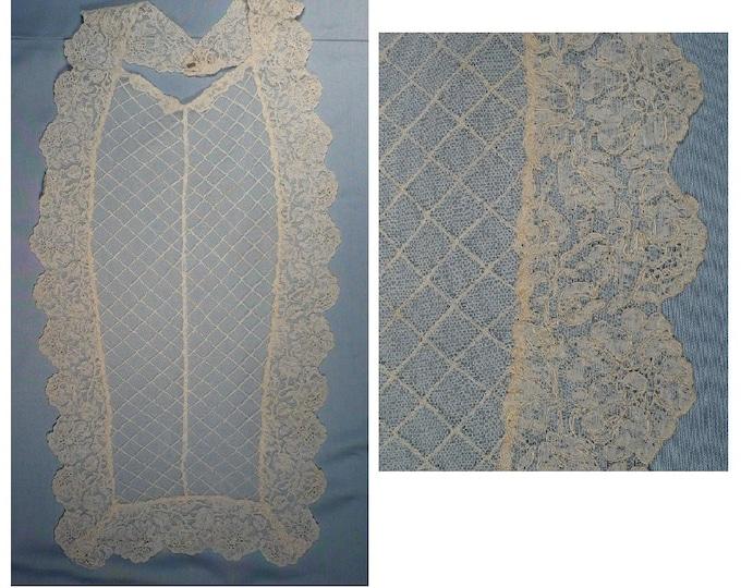 Antique French Alencon Needle Lace Collar