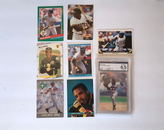 Lot of Barry Bonds HOF Vintage Baseball Cards