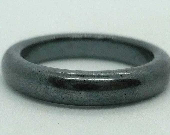 sz 7 1/4 Hematite Stone Gemstone Stackable Band Ring