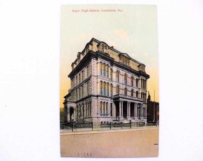 1909 Boys' High School Louisville Kentucky Vintage Postcard Posted