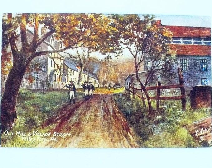 1907 Old Mill Village Street Valley Forge Pennsylvania Vintage Postcard Unposted
