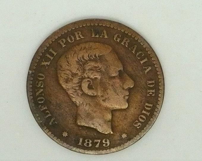 Spain Espana 1879 5 Cinco Centimos - Alfonso XII Coin