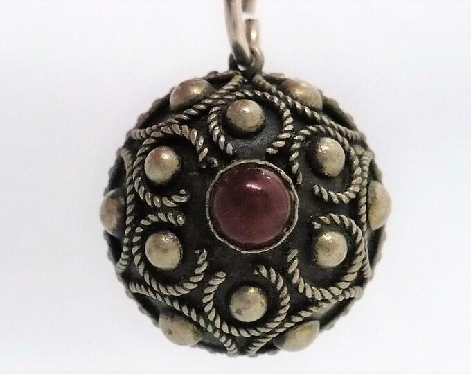 Bali Orb Charm Ornate Silver Souvenir Charm