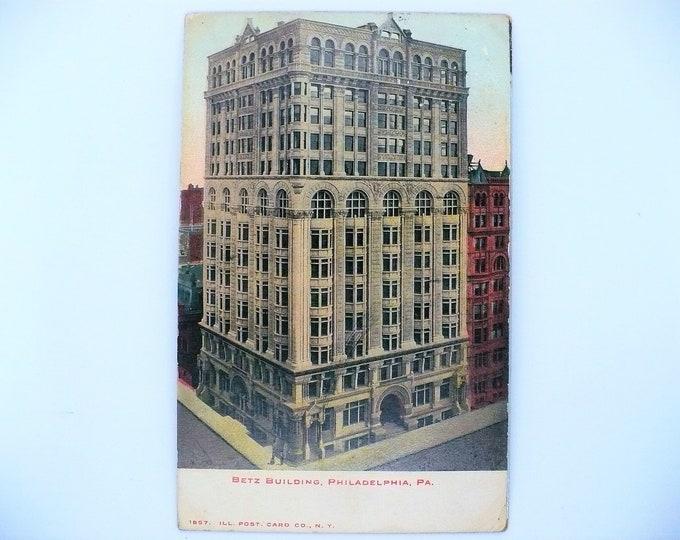 1907 Betz Building Philadelphia Pennsylvania Vintage Postcard Posted