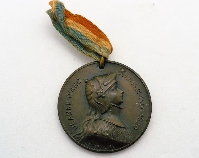 III Republic Médaille de la ville de Digne Jeanne d'Arc Engraver AJ Corbierre
