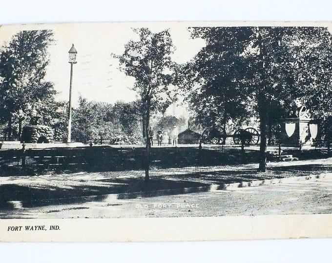 1908 Old Fort Place Fort Wayne Indiana Vintage Postcard