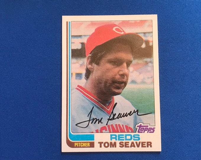 1982 Topps #30 Tom Seaver Reds HOF Vintage Baseball Card