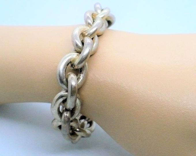 Aleixandre Oval Rolo Sterling Silver Link Bracelet