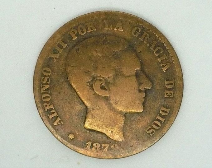 Spain Espana 1879 10 Diez Centimos - Alfonso XII Coin