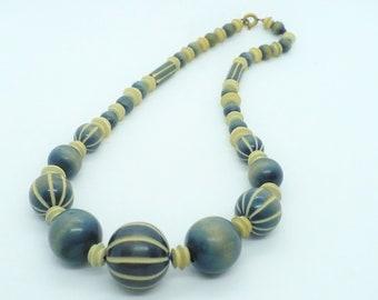 Rare Antique Pumtek Bead Necklace