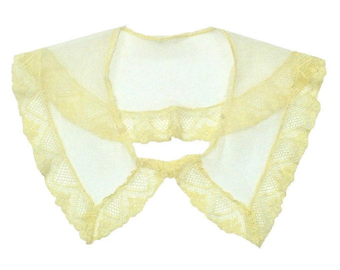 1800's Victorian French Silk Mesh Lace Collar