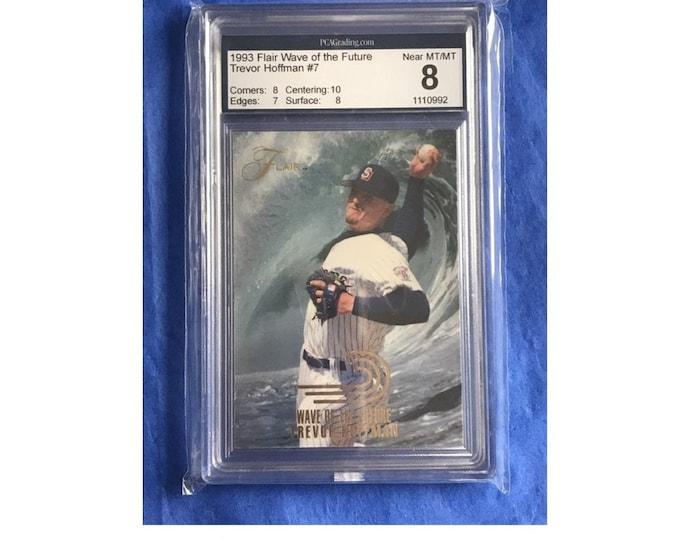8 Mint PCA 1993 Flair Wave of the Future #7 Trevor Hoffman RC Vintage Baseball Card