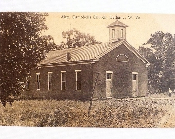 1909 Alexander Campbells Church Bethany West Virginia Postcard Posted