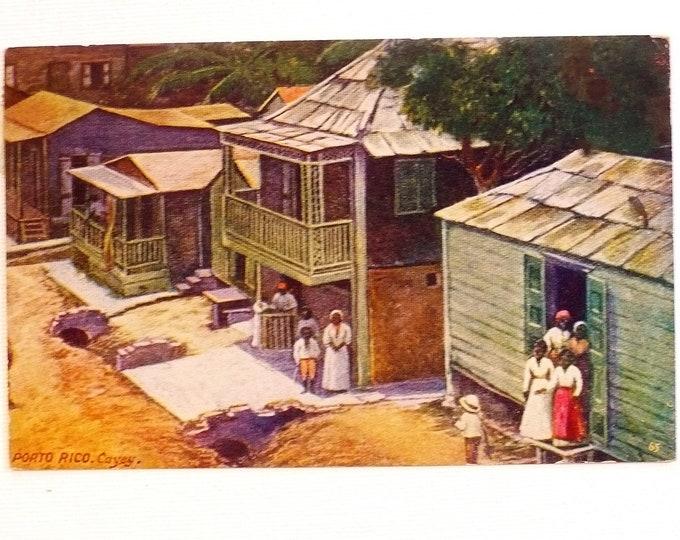 1909 Puerto'Porto Rico Cayey Vintage Postcard Posted