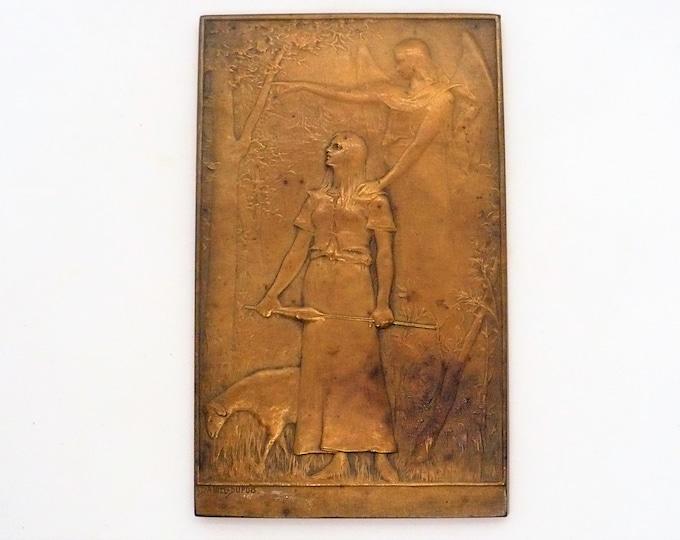 DANIEL DUPUIS 1849-1899 Plaque: Jeanne D'Arc Liberatrice du Territoire