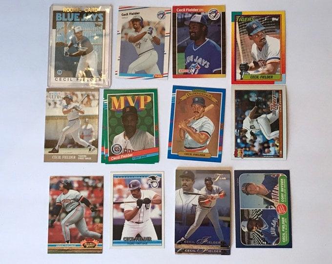 Lot Cecil Fielder RC Vintage Baseball Cards