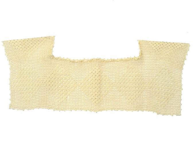 1920's Antique Vintage Edwardian Linen Crochet Lace Yoke Collar