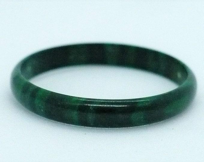 sz 9 3/4 Malachite Stone Gemstone Stackable Band Ring