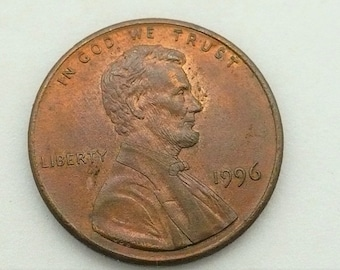 1996 I Cent Lincoln No Mint Penny Error Coin