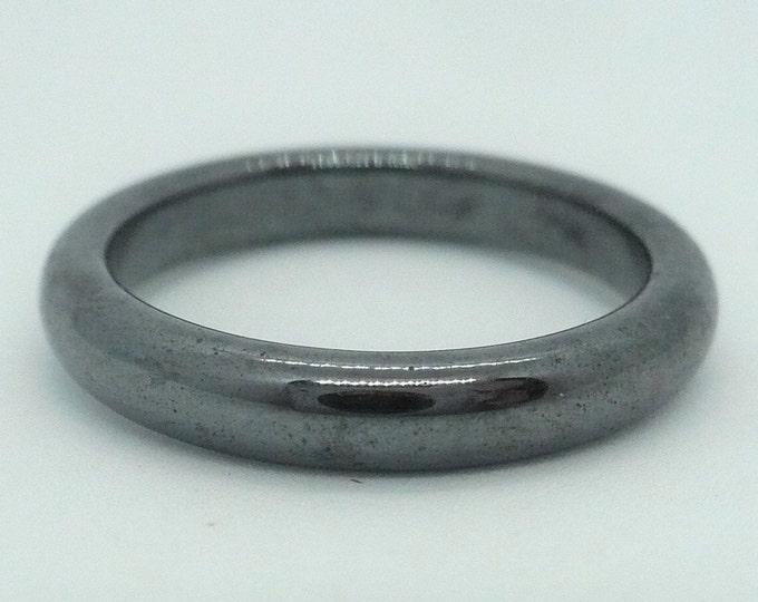 sz 9 3/4 Hematite Stone Gemstone Stackable Band Ring