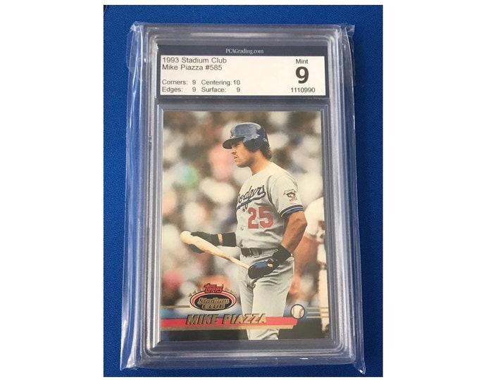 PCA 9 Topps 1993 #585 Mike Piazza HOF Vintage Baseball Card
