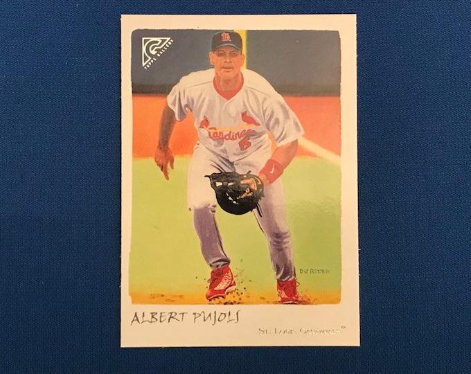 2002 Topps Gallery Veteran Variation 1 #56 Albert Pujols Cardinals Red Hat Vintage Baseball Card