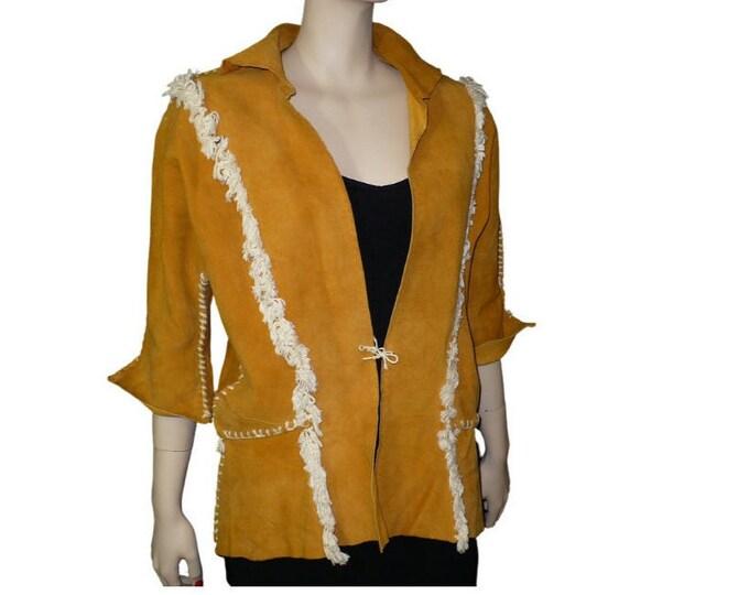 1940's Vintage Doeskin Leather Jacket Westernwear