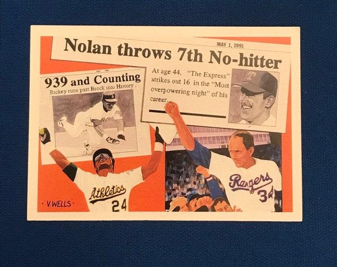 1991 Upper Deck #SP2 Nolan Ryan Rickey Henderson HOF Vintage Baseball Card