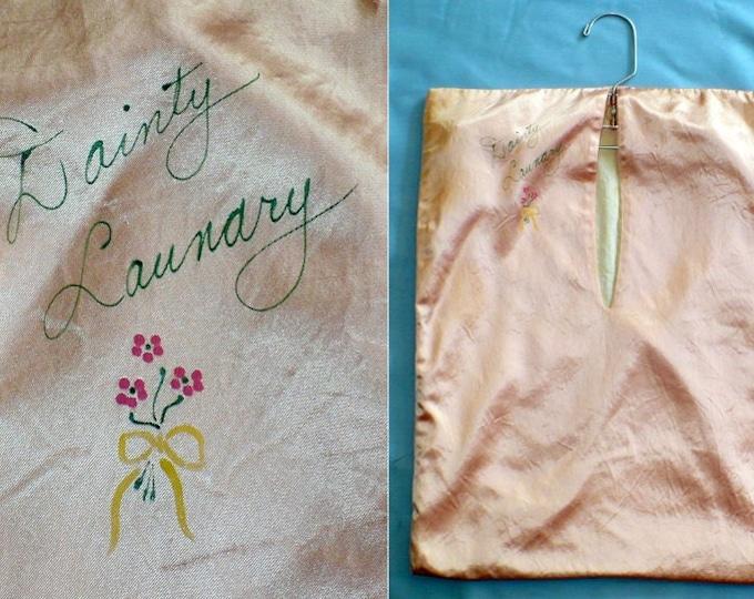 """1920's Vintage Lingerie """"Dainty Laundry"""" Boudoir Bag"""