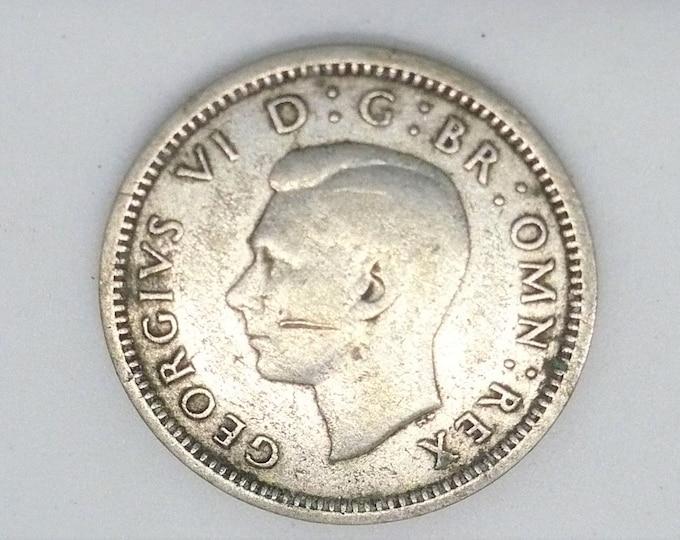 Great Britain 1940 3 Three Pence Silver Coin United Kingdom