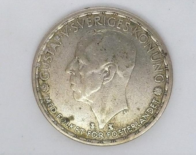 Sweden 1949 1 Krona Silver Coin