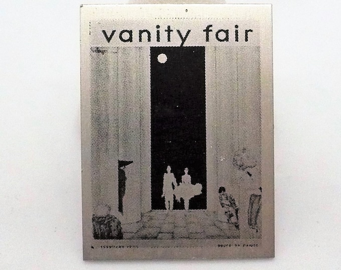 Deauville Vanity Fair Magazine Cover Vintage Pin
