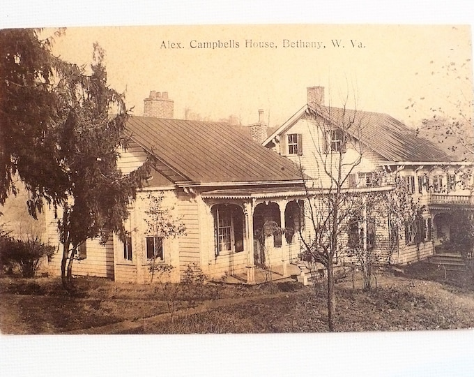 1909 Alexander Campbell's Mansion House Bethany West Virginia Postcard Posted