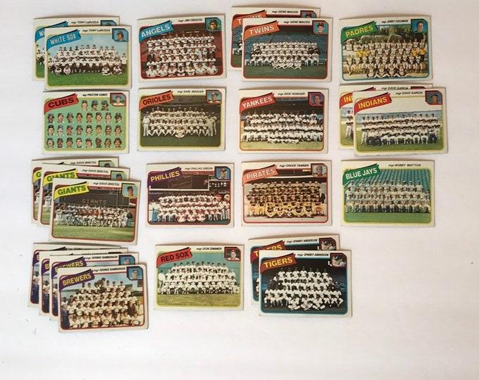 Lot 1980 Checklist Teams +Bonus Vintage Baseball Cards