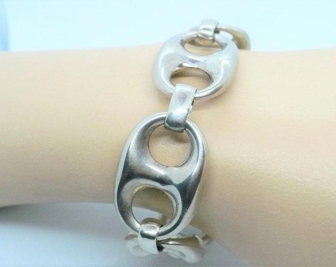 Silver Mariner Chain Link Bracelet