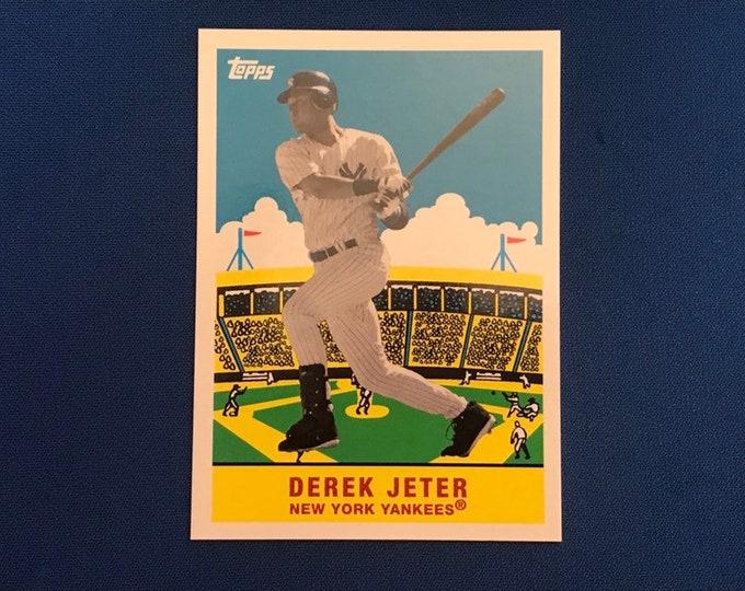 2007 Topps Flashback Fridays #FF2 Derek Jeter Yankees Vintage Baseball Card