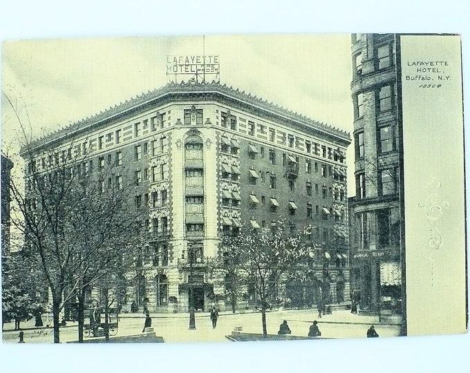 1907 Lafayette Hotel Buffalo New York Vintage Postcard Posted