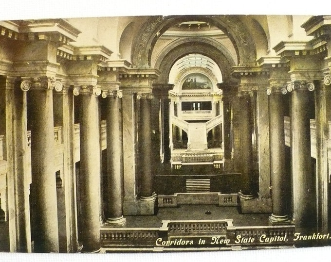 1912 Corridors New State Capital Frankfort Kentucky Vintage Postcard Posted