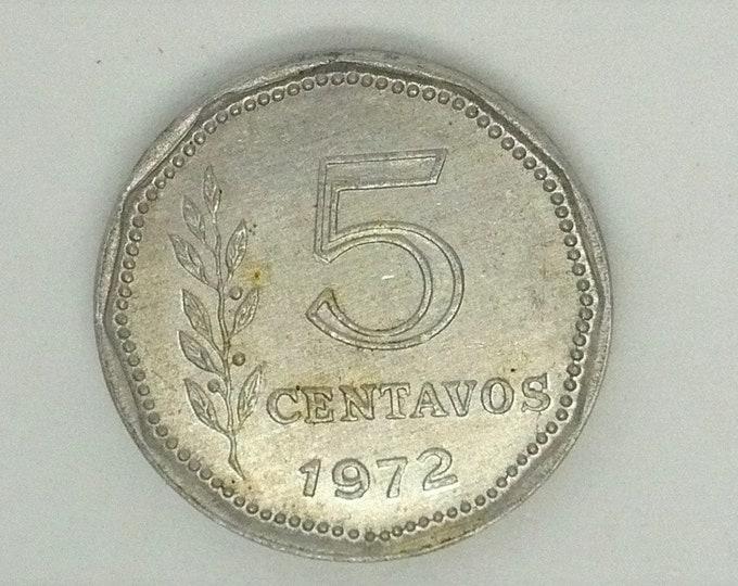 Argentina 1972 5 Centavos Error Coin