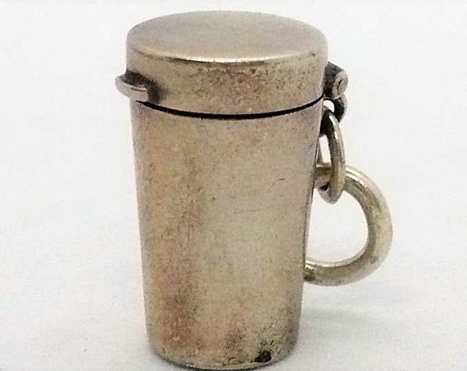 Travel Cup Vintage Mechanical Silver Charm