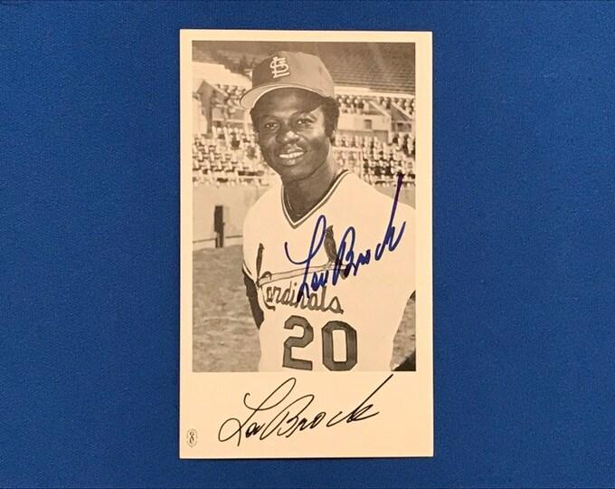Lou Brock Signed Autographed Photograph GAU Cardinals Baseball