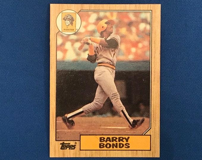 1987 Topps #320 Barry Bonds Pirates RC Vintage Baseball Card
