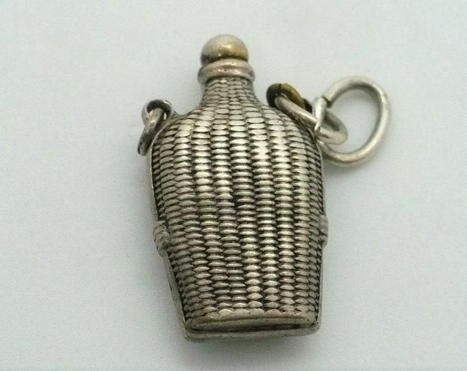 Saki Bottle Japanese Silver Souvenir Charm