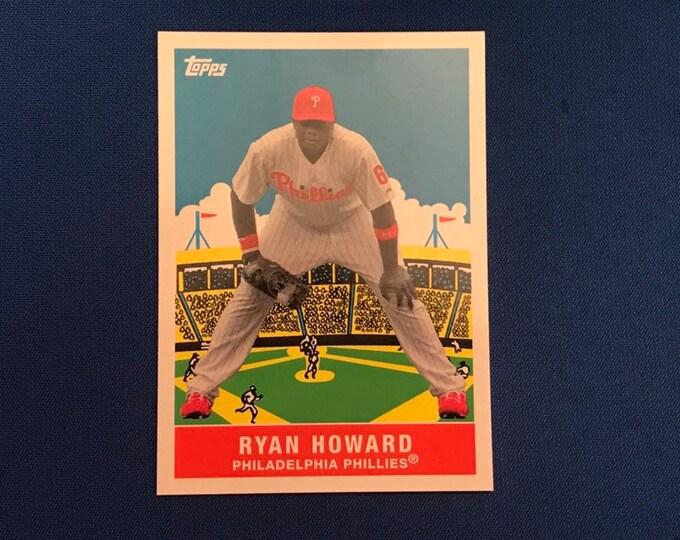 2007 Topps Flashback Fridays #FF1 Ryan Howard Phillies HOF Vintage Baseball Card